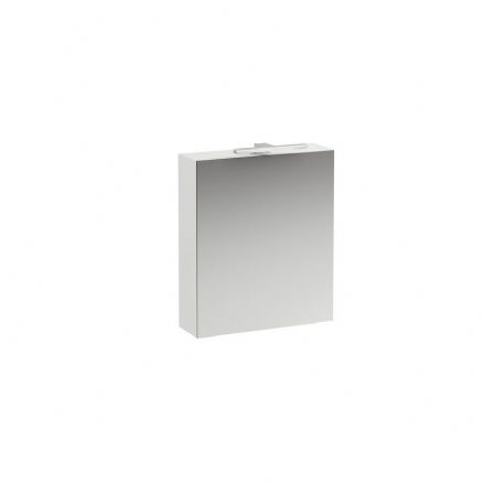 402771 - Laufen Base 700mm x 600mm Mirror Cabinet with Light (Left Hinged Door) - 4.0277.1